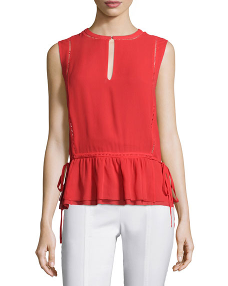 Tie-Waist Sleeveless Shell