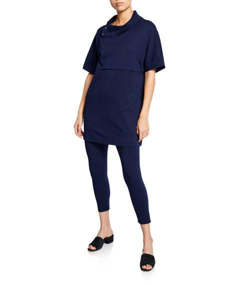 Joan Vass Plus Size Stretch-Jersey Leggings