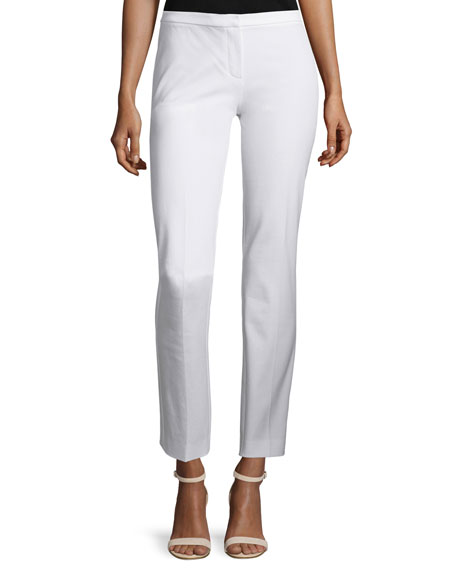 Elie Tahari Lindley Skinny Ankle Pants, White