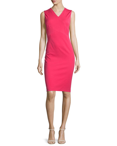 Alva Sleeveless V-Neck Sheath Dress