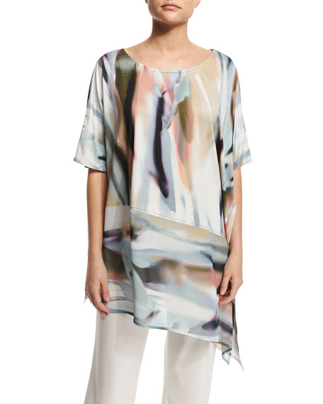Caroline Rose Go W/ the Flow Georgette Caftan