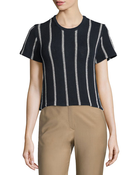 Theory Emmeris Ibisco Striped Boxy Sweater
