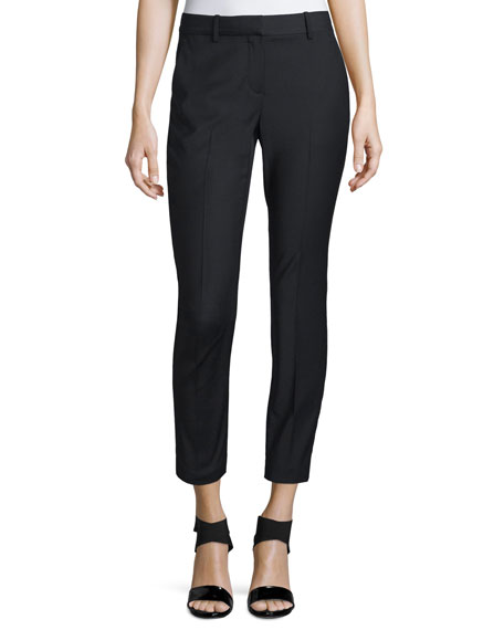 TheoryTreeca Cl. Continuous Cropped Pants, Black