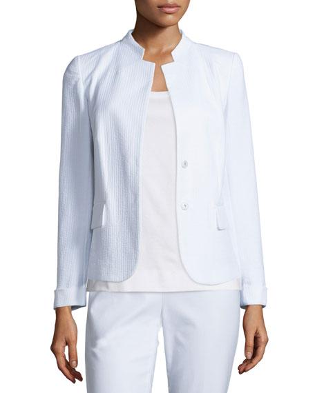 Lafayette 148 New York Emilia Snap-Front Jacket, White