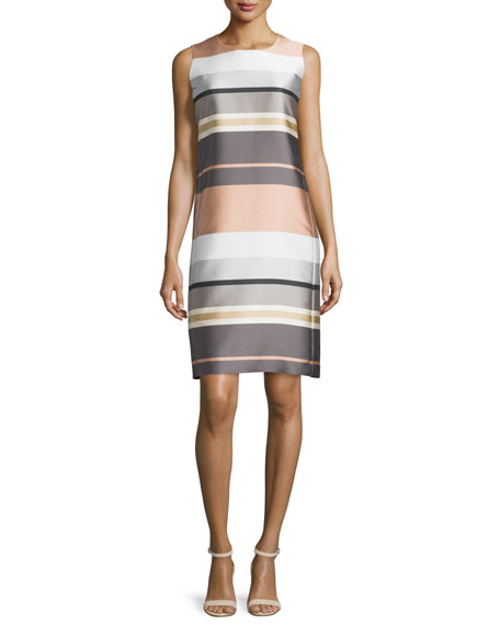Lafayette 148 New York Twiggy Sleeveless Striped Shift