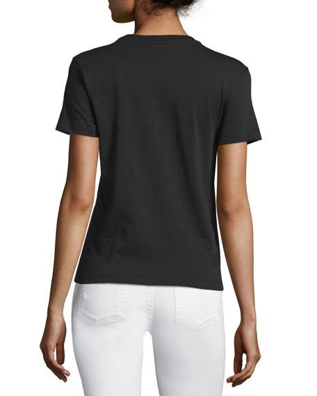 Short-Sleeve Stretch Logo Tee, Black