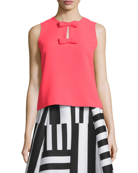 kate spade new york sleeveless two-bow top
