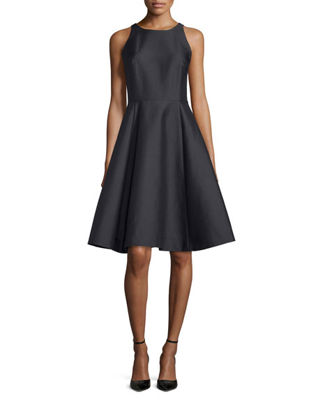 kate spade new york double-bow back sateen dress,
