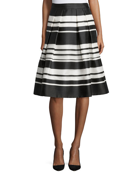 kate spade new york cape stripe organza skirt
