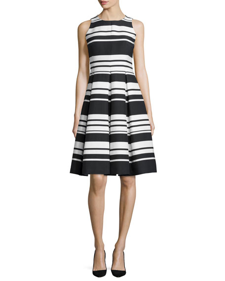 kate spade new york cape striped sateen dress,