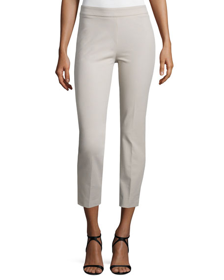 Peserico 4-Way Stretch Cropped Pants, Stone