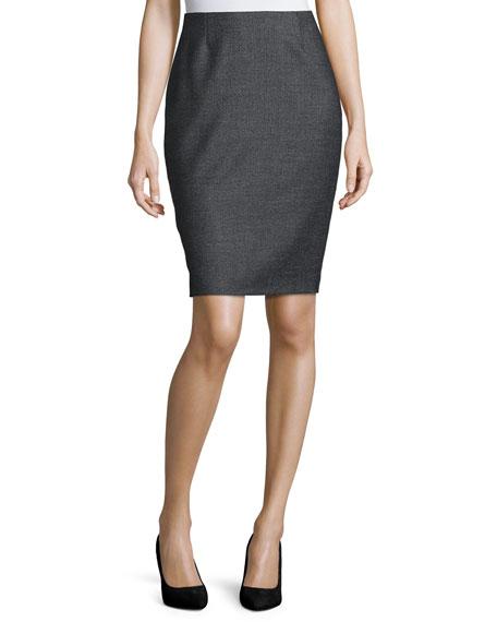 Escada Mid-Rise Pencil Skirt, Black