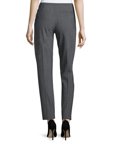 Jillian Slim-Leg Ankle Pants, Gray Melange