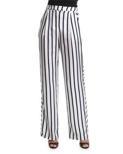 Dual-Striped Wide-Leg Pants, Dual Stripe