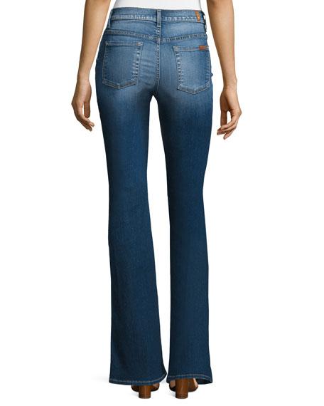 High-Waist Vintage Boot-Cut Jeans, Bright Indigo