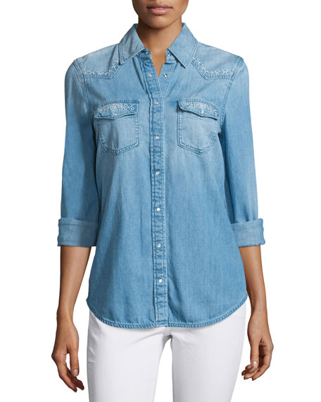AG Sutton Embroidered Chambray Shirt