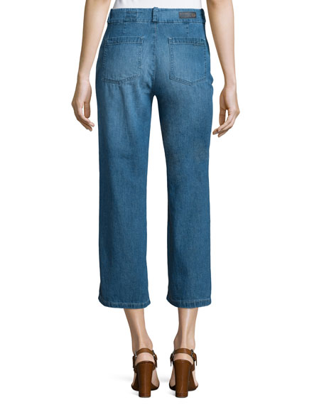 AG The Bobbie Wide-Leg Cropped Jeans, Weekend Getaway