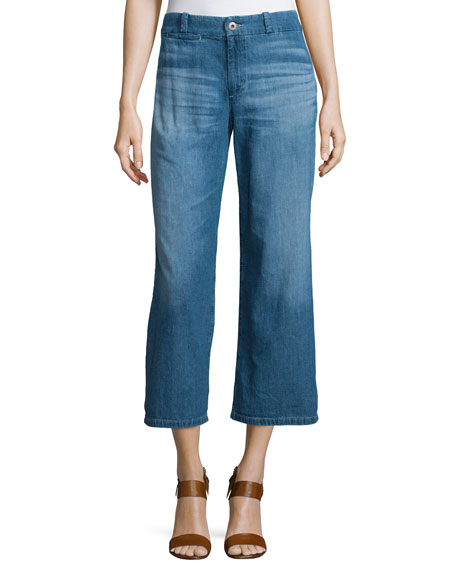 AG The Bobbie Wide-Leg Cropped Jeans, Weekend Getaway