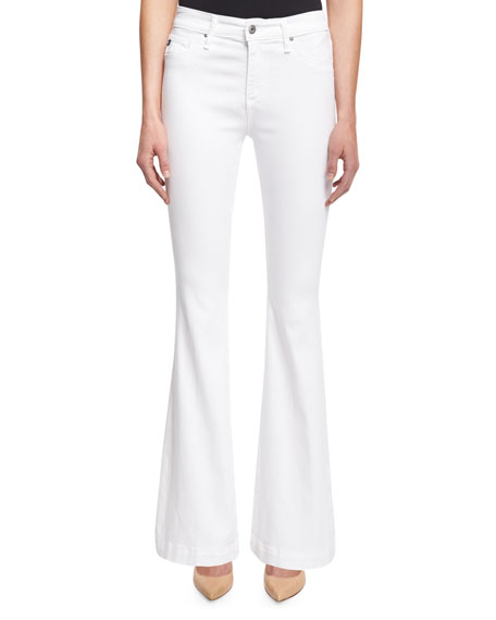 AG The Janis High-Rise Petite Jeans, White
