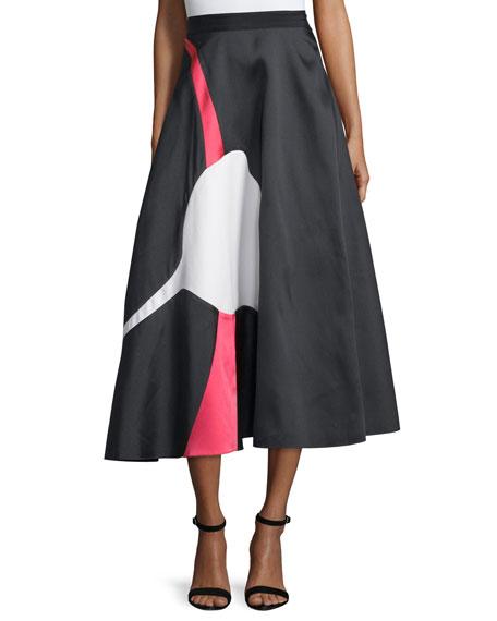 Sachin & Babi NoirImago Jacquard Full Midi Skirt