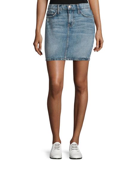 The Skinny Mini Denim Skirt, Triumph Destroy