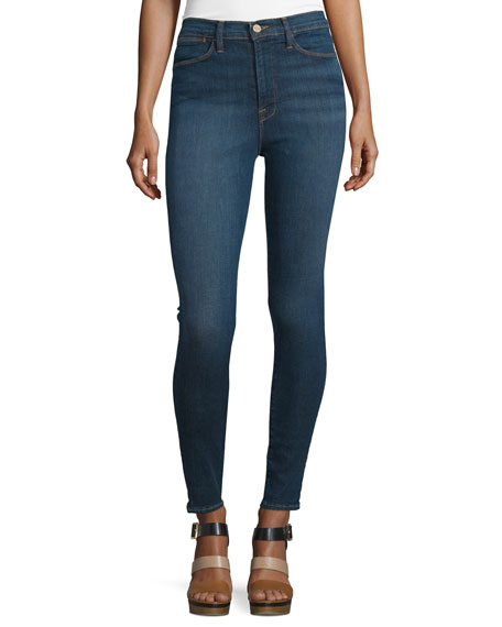FRAME Ali High-Waist Skinny Jeans, Holzmann