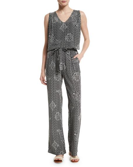 Nurrin Batik Paisley-Printed Silk Pants