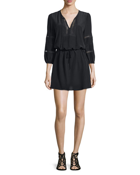 JoieAlidz Silk Dress with Embroidered-Trim