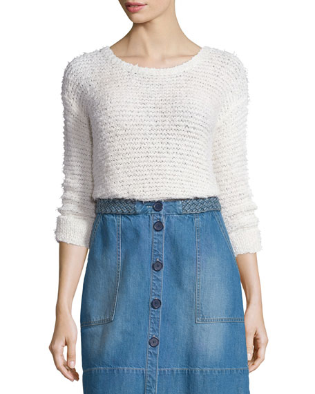 Joie Anias Textured Mesh Sweater
