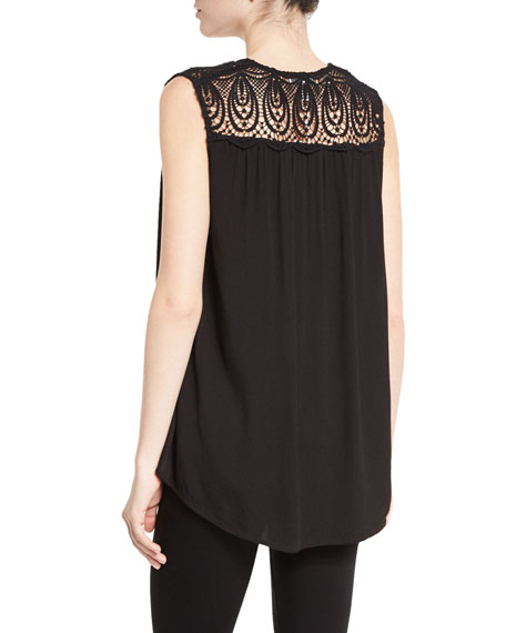 Layson Lace-Inset Sleeveless Top