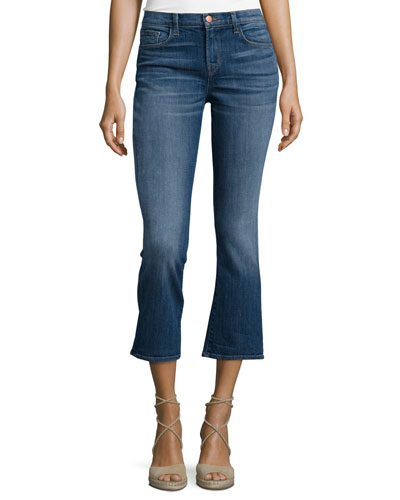 Selena Mid-Rise Cropped Jeans, Rise