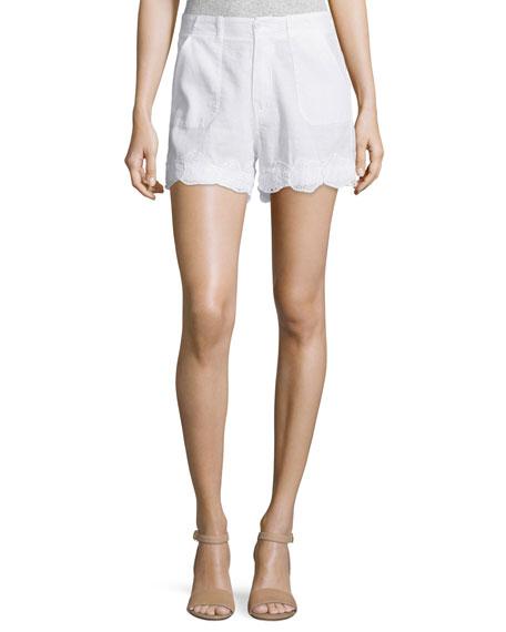 MiHAmas Mid-Rise Shorts, White