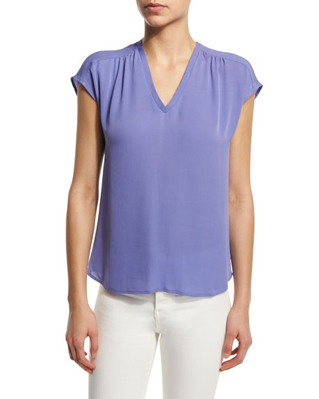 Suela V-Neck Silk Top