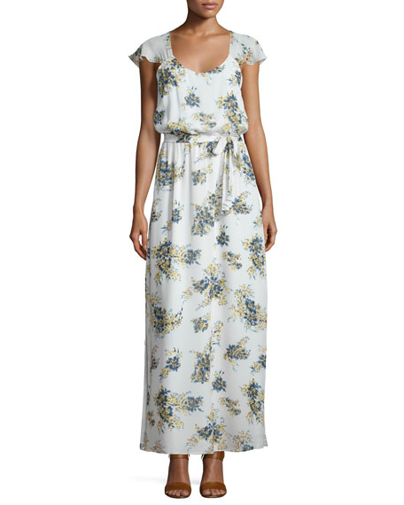 Joie Astilbe Floral-Print Crepe Dress