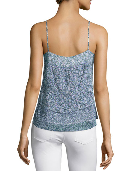 Goja Sleeveless Layered-Hem Top, Lemon Drop