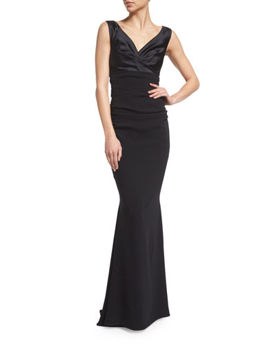 Boss Sleeveless Mermaid Cocktail Gown, Black