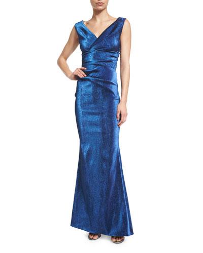 Komiza Sleeveless Metallic Gown, Royal Navy