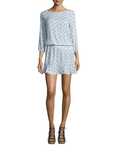 Arryn B Printed Blouson Dress