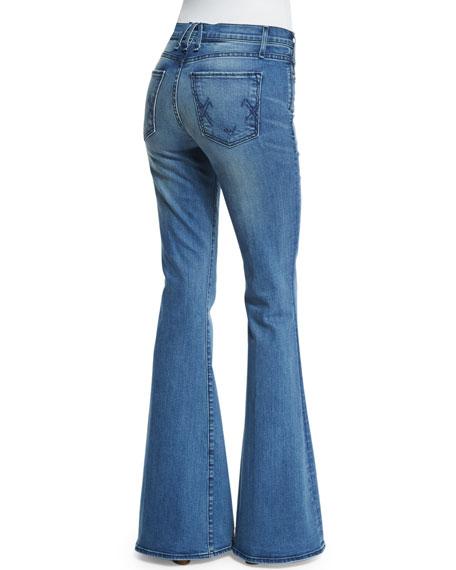 Majorelle Flare-Leg Jeans, Bright Blue