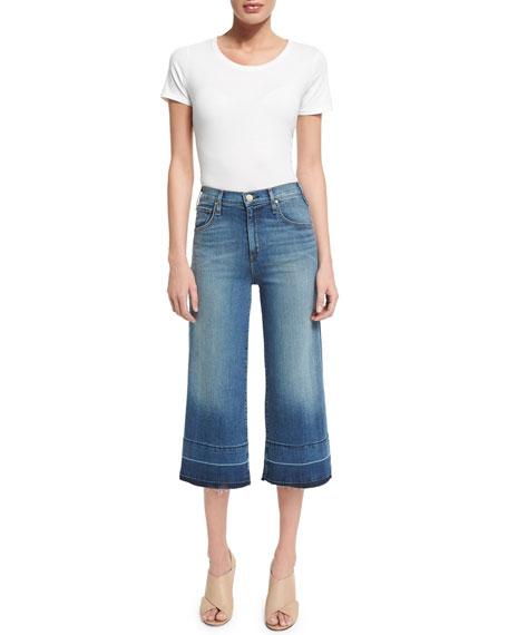 Bessette High-Waist Culotte Jeans, Shayne