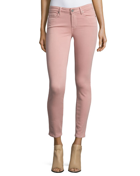 Verdugo Skinny Ankle Jeans, Soft Pink