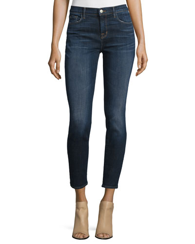 811 Mid-Rise Skinny Cropped Jeans, Reserve
