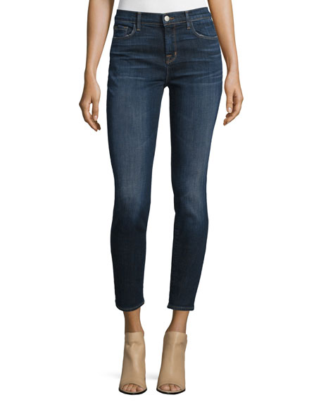 J Brand 811 Mid-Rise Skinny Cropped Jeans, Reserve