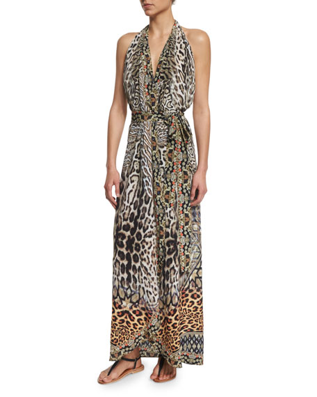 Camilla Printed Halter Wrap Dress Coverup, The Mighty