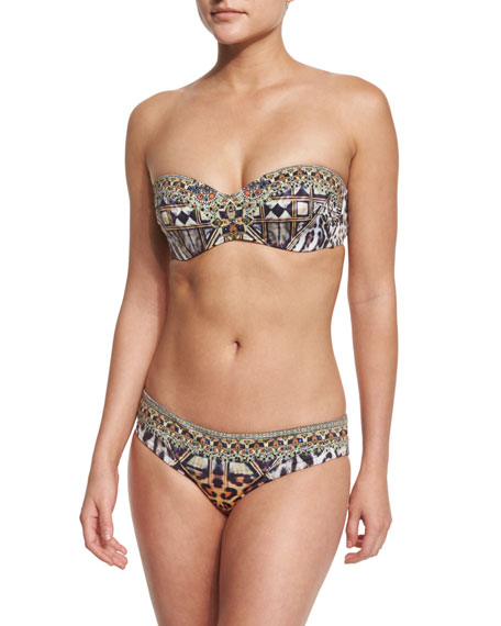 Camilla Printed Two-Piece Bandeau & Wide Hipster Bikini