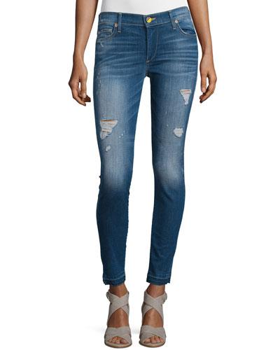 Halle Mid-Rise Super Skinny Jeans