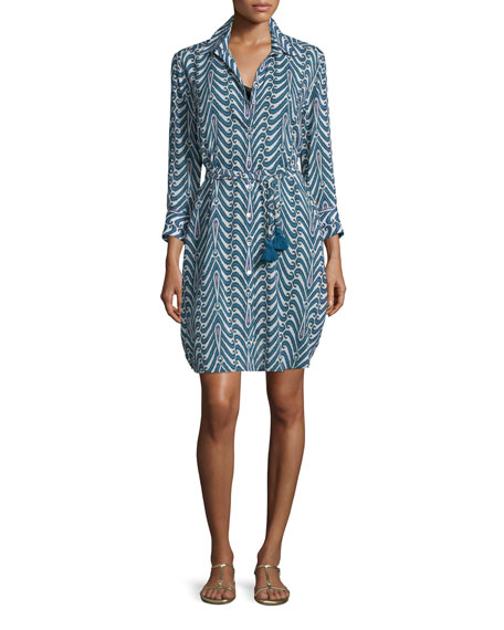 Figue Taline Printed Crepe Shirtdress