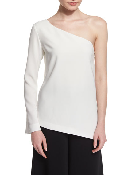 Elizabeth and James Layla One-Sleeve Blouse, Ivory