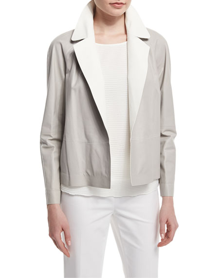 Callan Two-Tone Leather Jacket