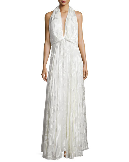 Camilla & Marc Sleeveless Burnout Flowy Gown